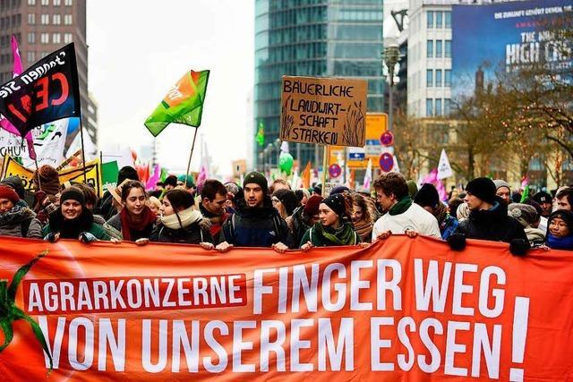 18.000 fordern in Berlin Wende in Landwirtschaft