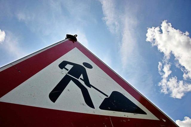 Bauarbeiten in Staufen wegen Frost verschoben