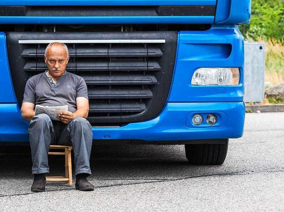 Osteuropäer  arbeiten auch als Brummifahrer bei lokalen Firmen.  | Foto: Carlotta Huber