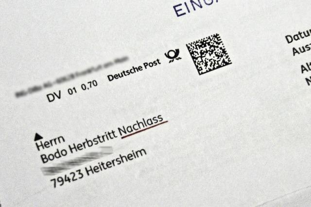 Heitersheimer wird von Schufa für tot erklärt