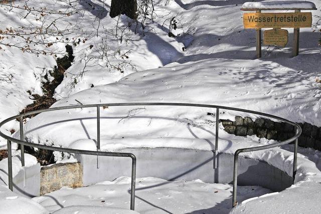 Schnee-Tretstelle