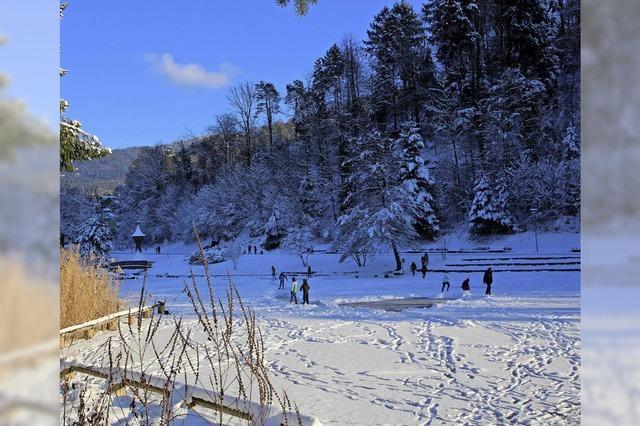 Stadtrainsee ist keine offizielle Eislauffläche