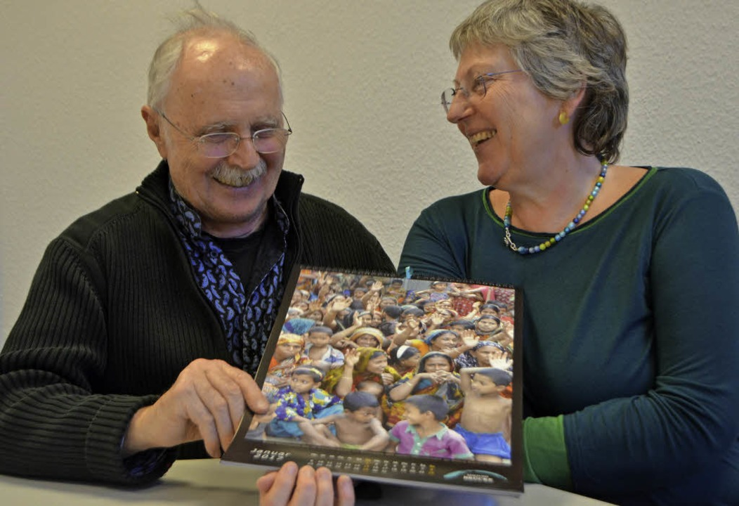 Peter Haas und Bettina Mühlen-Haas  | Foto: Walser