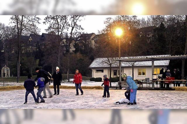 Eislaufen im Kurpark