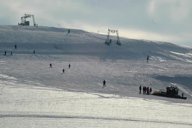 Südbadens tiefster Skilift: Was sind schon 20 Zentimeter?