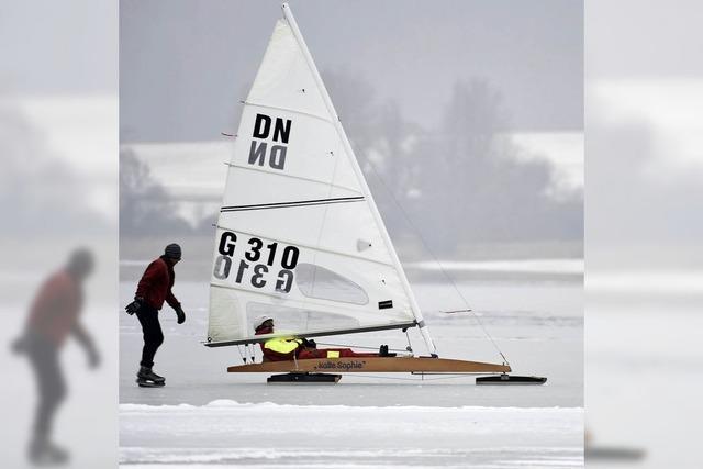 Eissport auf dem Bodensee