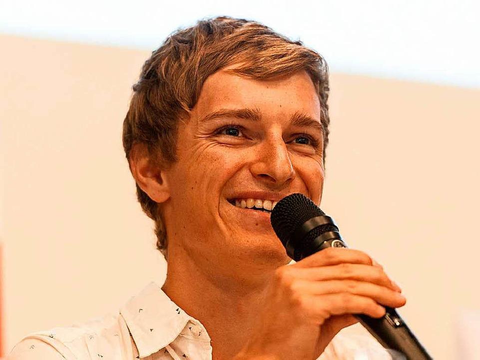 Manuel Faißt, hier bei einer Podiumsdiskussion in Freiburg  | Foto: Patrick Seeger
