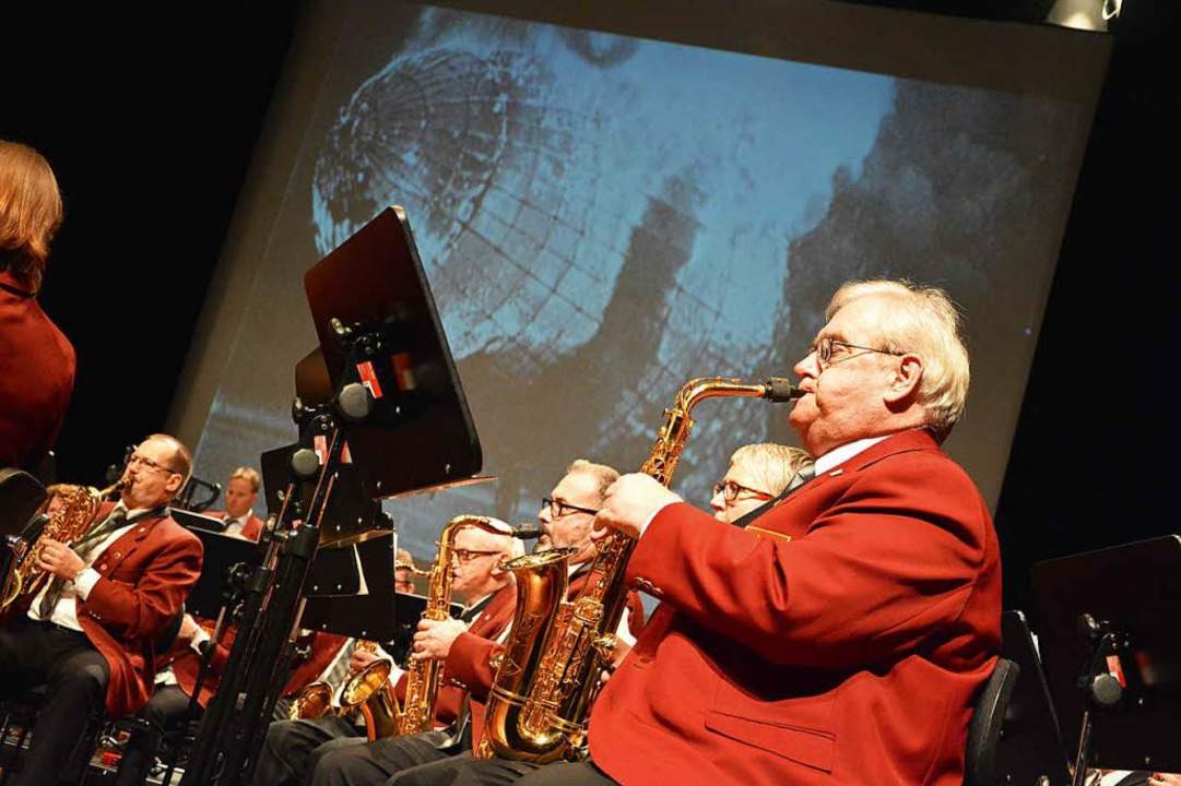 Historische Ereignisse, in Musik übers...zept der Stadtmusik beim Jahreskonzert  | Foto: Barbara Ruda