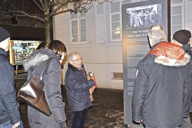 Ein Stadtrundgang zum Schicksal der Lörracher Juden