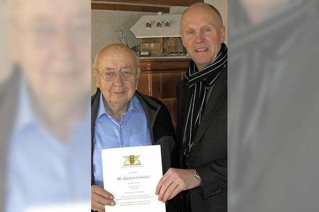 Glückwünsche zum 90. Geburtstag