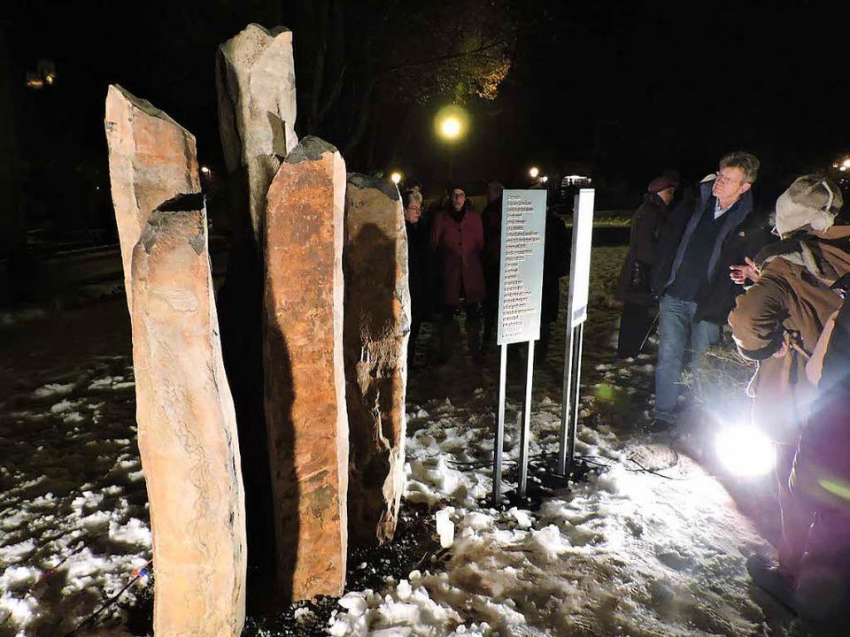 Die fünf Säulen stehen für das fünfte Gebot.    Foto: Sylvia Sredniawa