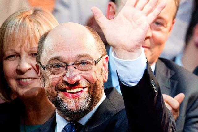 Kanzlerkandidat Schulz sieht Ruck durch die SPD gehen