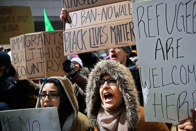 Protest gegen Trumps Einreiseverbot wächst