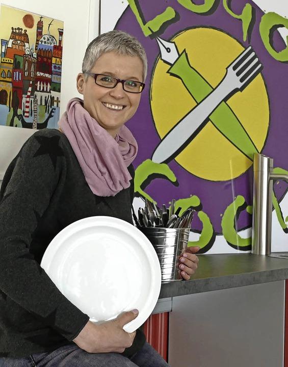 Birgit Eske, Leiterin der Logo Food-Me...abfälle fallen in geringen Mengen an.   | Foto: Stefan Limberger-Andris