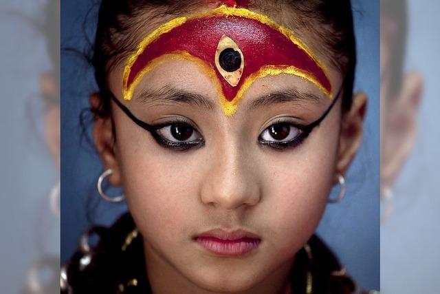 Kindliche Gottheit in Nepal
