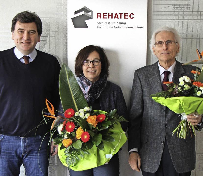 Rehatec-Geschäftsführer Georgios Dimit...Burger und Dieter Rüdlin (von links).   | Foto: Hassler