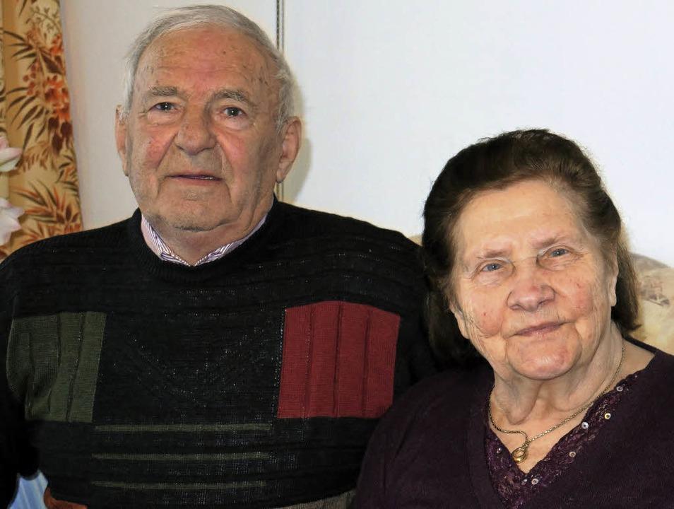 Johann und Maria Rudi feiern in Lahr eiserne Hochzeit.     Foto: Wolfgang Beck