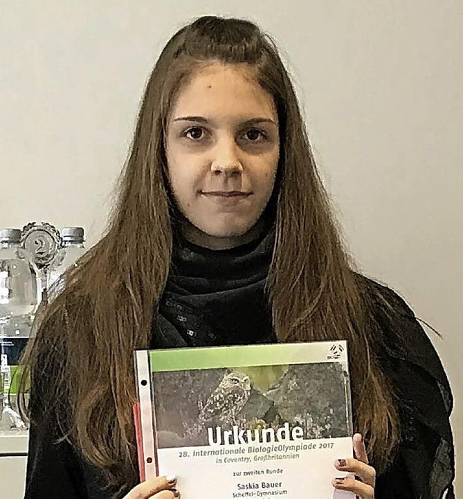 <BZ-FotoAnlauf>Biologie-Olympiade:</BZ...-Gymnasium) gehört zu den besten 100.   | Foto: Schule