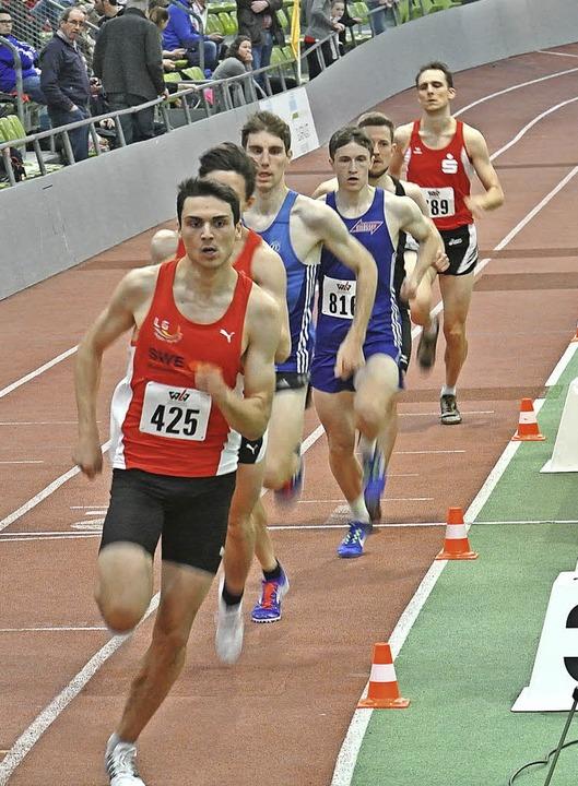 Seinem Tempo über 800 Meter konnte in ...essler wurde überlegen Landesmeister.   | Foto: zvg