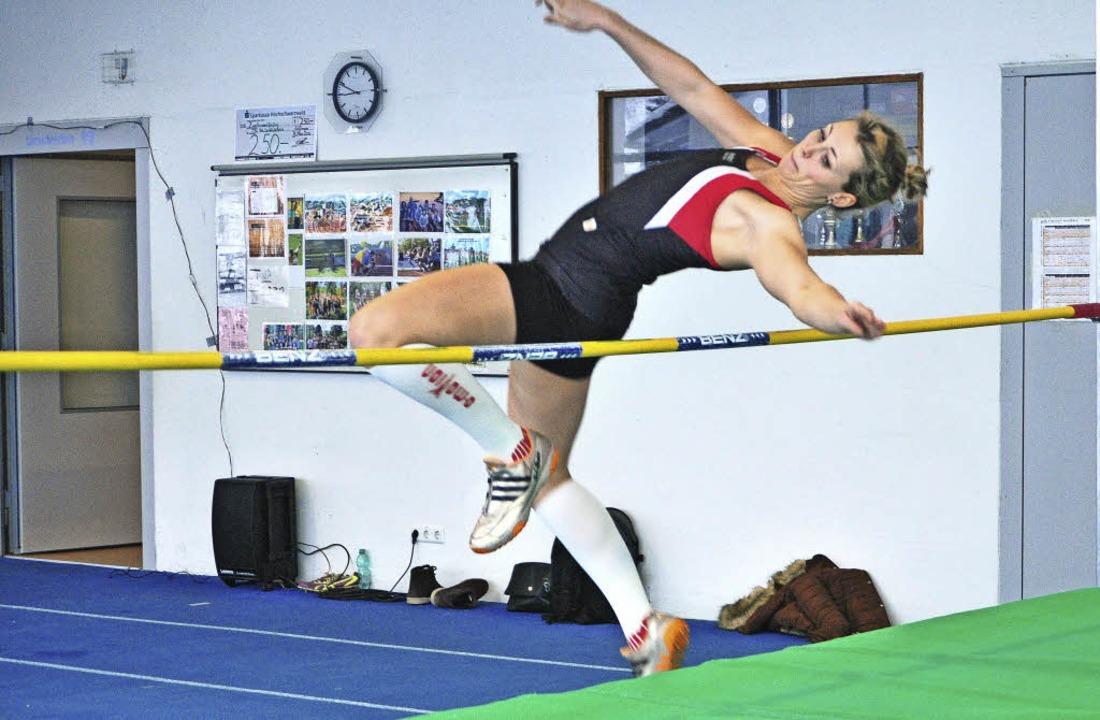 Die Lenzkircher Speerwerferin Janice W...rfloppten 1,55 Metern eine gute Figur.  | Foto: zvg