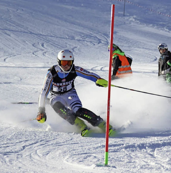 Urs Rotkamm vom SC Waldshut holte sich den U-21-Titel im Slalom.  | Foto: Michael Streich