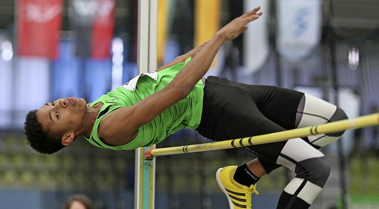 Platz zwei der deutschen Rangliste: Je...ng um neun Zentimeter auf 2,05 Meter.   | Foto: Görlitz
