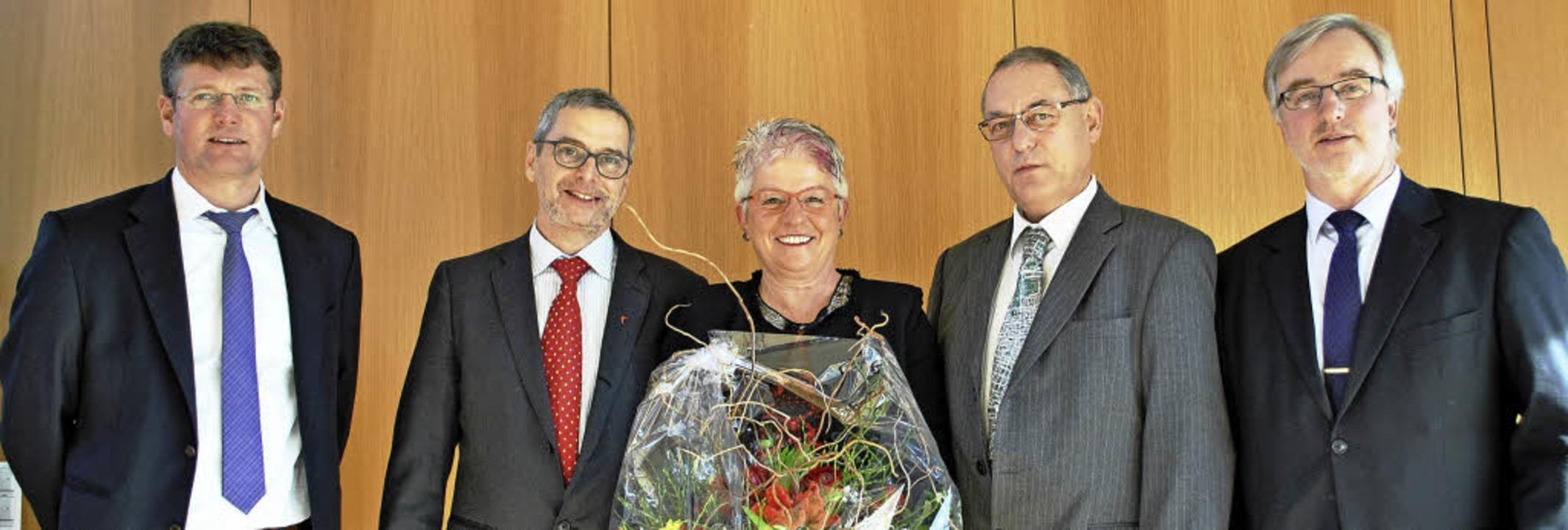 Lauter Lobreden (von links): Oliver Ma...eier, Rudolf Kothmeier, Erwin Drixler   | Foto: rob