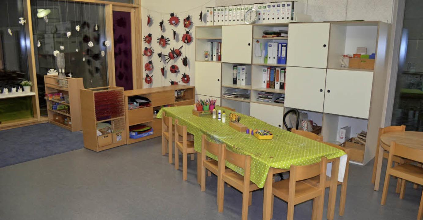 Zur Einweihung bekamen die Kinder Gesc... in ihren neuen Räumen nutzen können.     Foto: Nikola Vogt