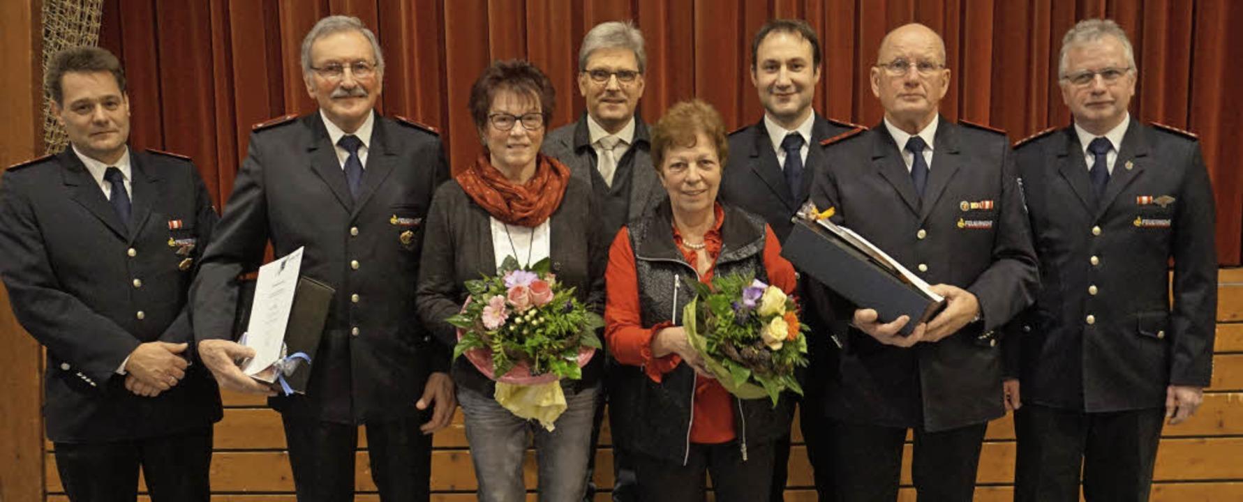 Jahreshauptversammlung der Feuerwehr i...Kommandant Rolf Lupberger (von links).  | Foto: Julius Steckmeister