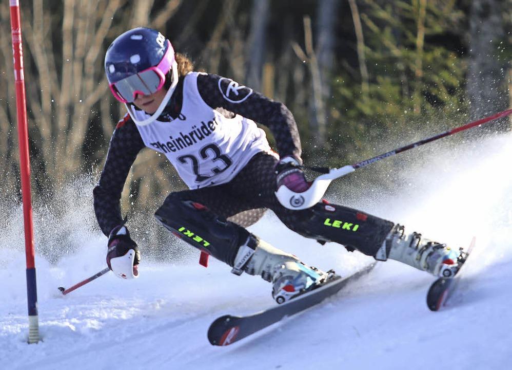 Erste im Riesenslalom, Zweite im Slalom: Ronja Wiesler   | Foto: Siegmund