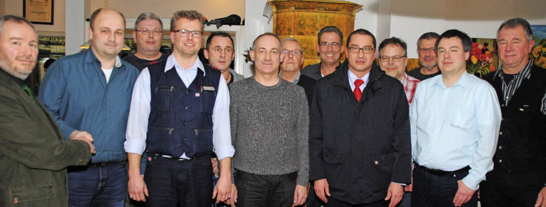 Der stellvertretende Bezirksvorsitzend...ngsriege der GDL-Ortsgruppe Haltingen   | Foto: SEDLAK