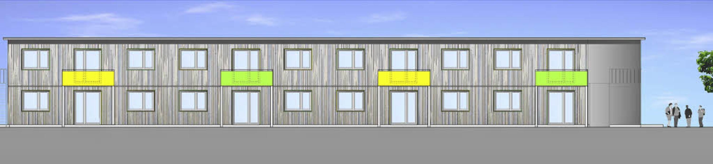 So soll das geplante Flüchtlingswohnheim in Murg  aussehen.    Foto: Grafik: Gemeinde Murg