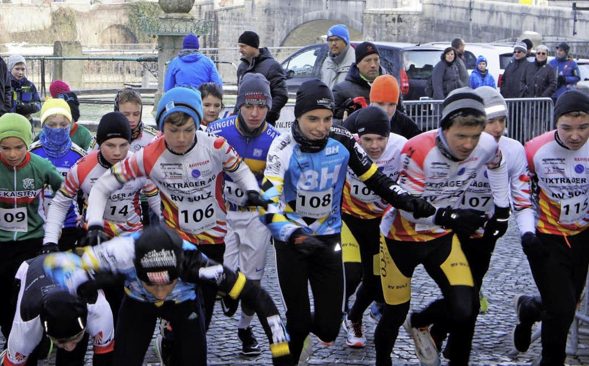 Die Nachwuchsläufer gaben alles beim Stadtlauf.    Foto: Reinhard herbrig