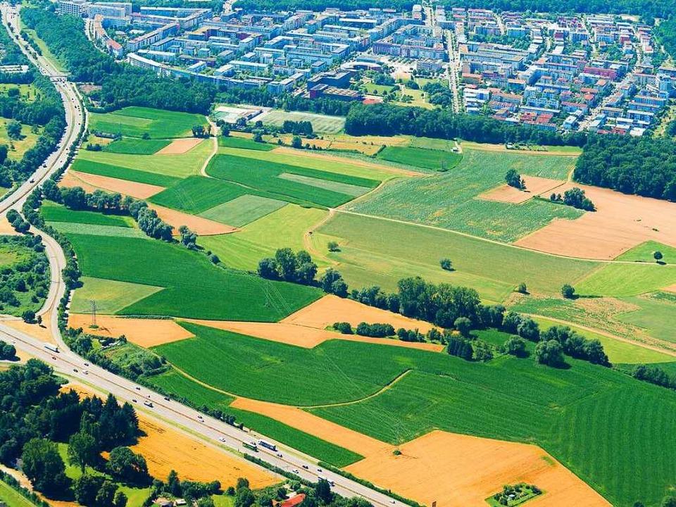 Der neue Stadtteil Dietenbach soll dir...hr als 12000 Einwohner haben.Stadtteil  | Foto: Nils Theurer