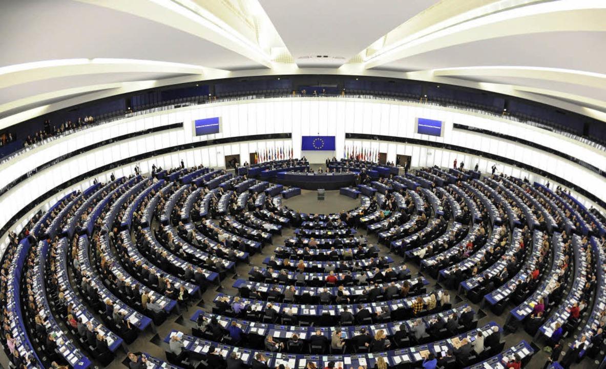 Europas Vorzeigezimmer: der Plenarsaal im Europäischen Parlament in Straßburg   | Foto: dpa/Bamberger (2)
