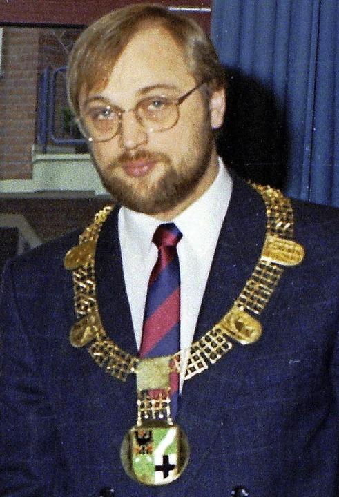 Goldbehangen: Bürgermeister Martin Schulz 1988.   | Foto: dpa