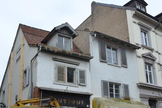 Zwei Häuser in Lörracher Innenstadt werden abgerissen