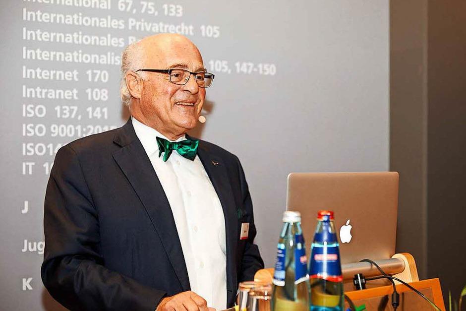 WVIB-Präsident Klaus Endress eröffnet die Industriemesse I+E. (Foto: WVIB)