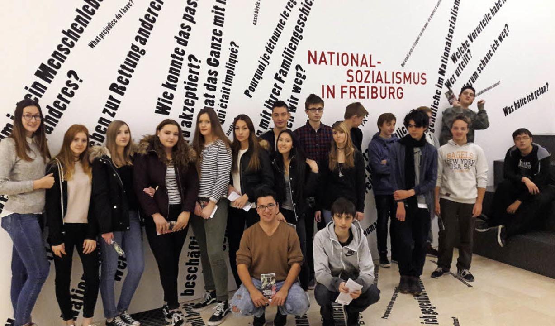 Die Klasse 10b der Hugo-Höfler-Realsch...chte das Freiburger Augustinermuseum.   | Foto: privat