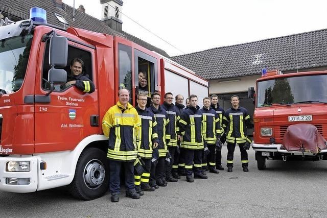 Feuerwehr Weitenau: Starkregen und nagelneues Fahrzeug