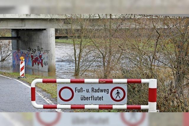 Lörrach: Das erste kleine Hochwasser des Jahres