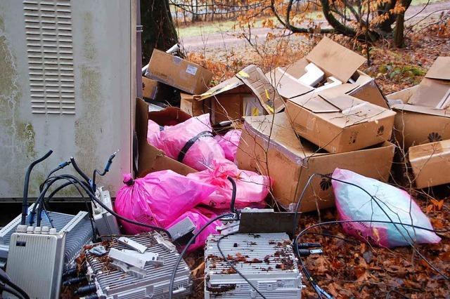 Müllfrevler in Karsau unterwegs
