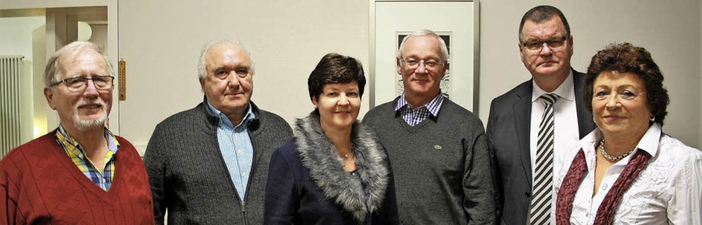 Der kommissarische Vorstand des HuV: V...nach 15 Jahren nicht mehr kandidierte.  | Foto: Werner Schnabl