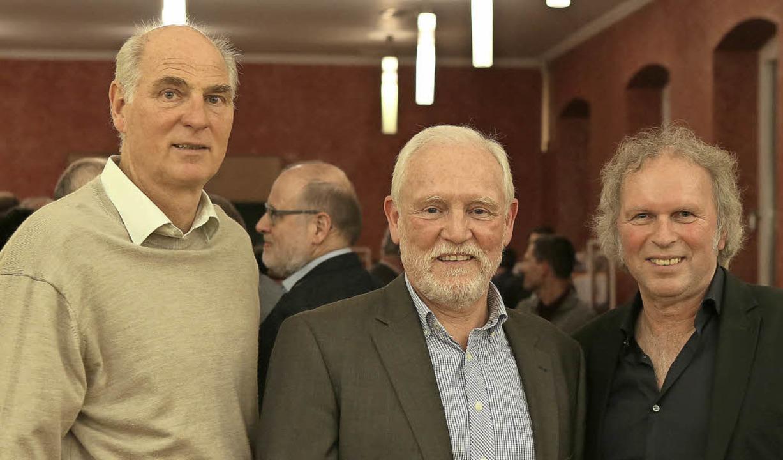 Die Macher der ersten Stunde (von link...ler, Werner Noltenhans und Uwe Baumann    Foto: Christoph Breithaupt