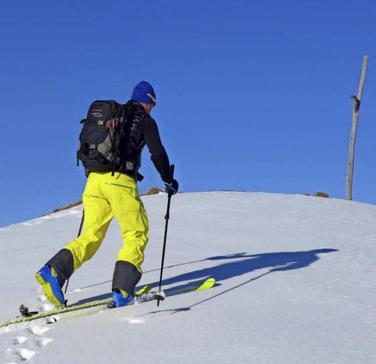 Felle unter den Skiern: auf dem Weg zum   Hählekopf  | Foto: Stefan Zahler