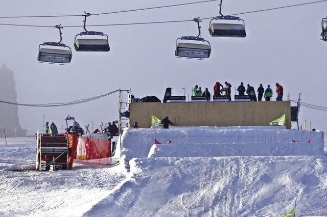 Rampe frei für die Skicrosser