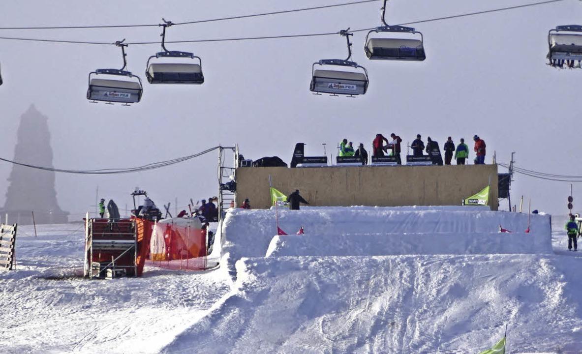 Bereit für zwei tolle Renntage: die Startrampe des Skicross-Weltcups am Seebuck   | Foto: bachmann
