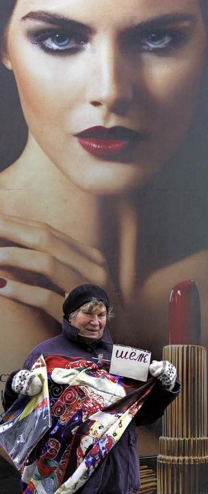 Straßenhändlerin in Moskau  | Foto: AFP