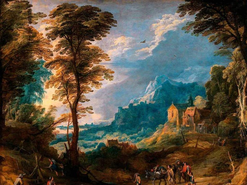 Josse de Momper, Gebirgslandschaft mit Pilgern und fahrendem Volk   | Foto: bpk, Staatliche Kunsthalle Karlsruhe