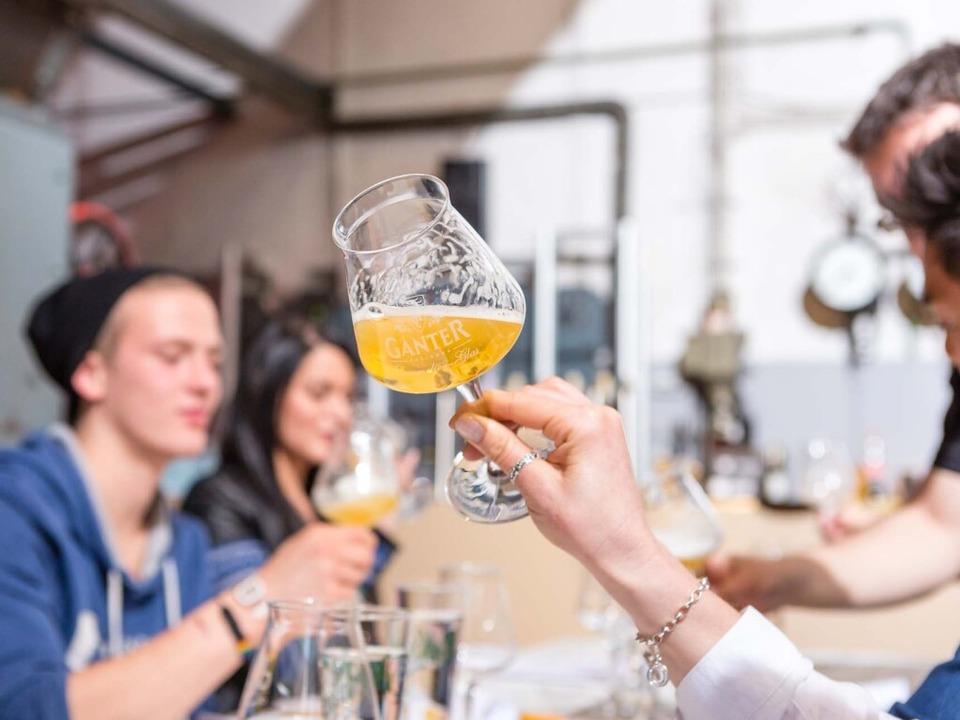 Brau-Erlebnisführungen der Brauerei Ganter    Foto: Brauerei Ganter
